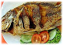 thai recipe : fried fish with fish sauce
