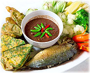 Thai Recipes : Spicy Shrimp Paste and Fried Mackeral Fish