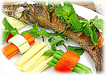Thai Food Recipe |  Fried Fish with Mixed Herb